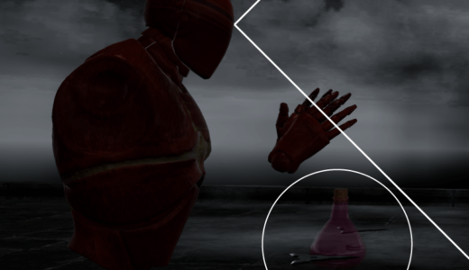VR内でのアイテム選択について -ハンドトラッキングを用いた視野角外の利用-